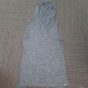 Gaiam hooded cutout back yoga workout hoodie small